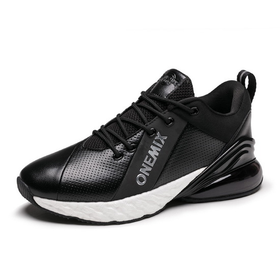 Black/White Shoes ONEMIX Jupiter Men's Absorption Cushion Sneakers