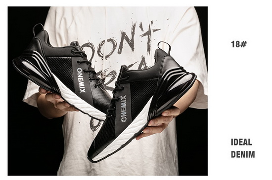 Black/White Shoes ONEMIX Jupiter Men's Absorption Cushion Sneakers - Click Image to Close
