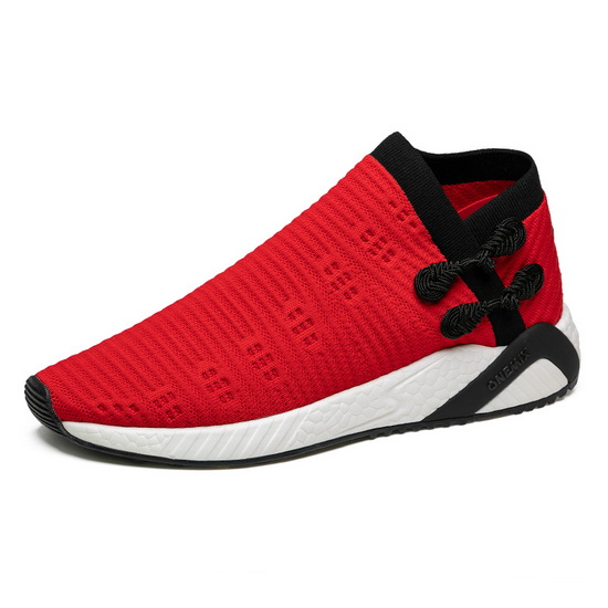 Red/Black Light Men's Shoes ONEMIX Women's Socks-like Sneakers