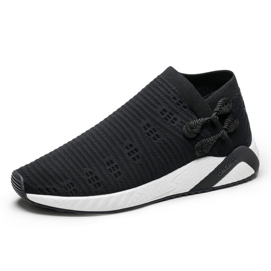 Black/White Lightweight Women's Sneakers ONEMIX Men's Socks-like Shoes