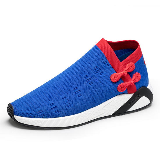 Blue/Red Outdoor Men's Shoes ONEMIX Women's Socks-like Sneakers