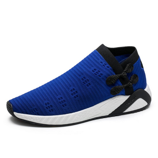 Blue/Black Knitted Vamp Sneakers ONEMIX Men's Socks-like Shoes