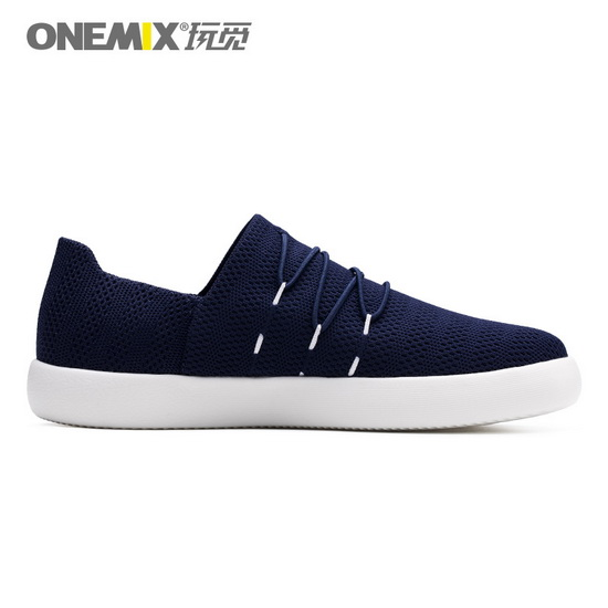 Dark Blue Flat Shoes ONEMIX Men's Slip On Sneakers - Click Image to Close