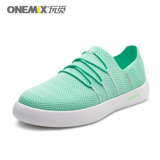 Light Green Slip On Sneakers ONEMIX Women's Flat Shoes
