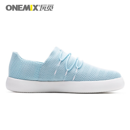 Sky Blue Slip On Shoes ONEMIX Women's Flat Sneakers