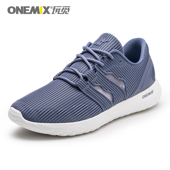 Gray April Outdoor Shoes ONEMIX Men's Mesh Vamp Sneakers