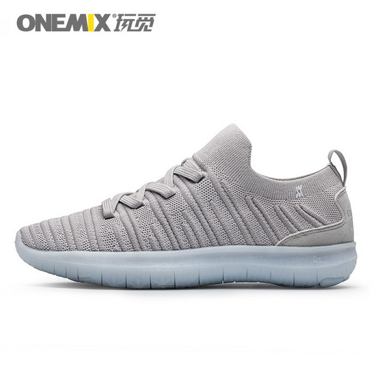 Gray June Anti-skid Shoes ONEMIX Men's Sneakers - Click Image to Close