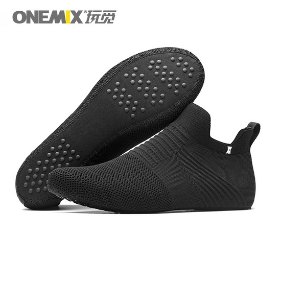 Black No Glue Men's ONEMIX Women's Inner Socks-slipper