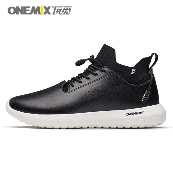 Black/White August Men's Shoes ONEMIX Women's 3 in 1 Set Sneakers