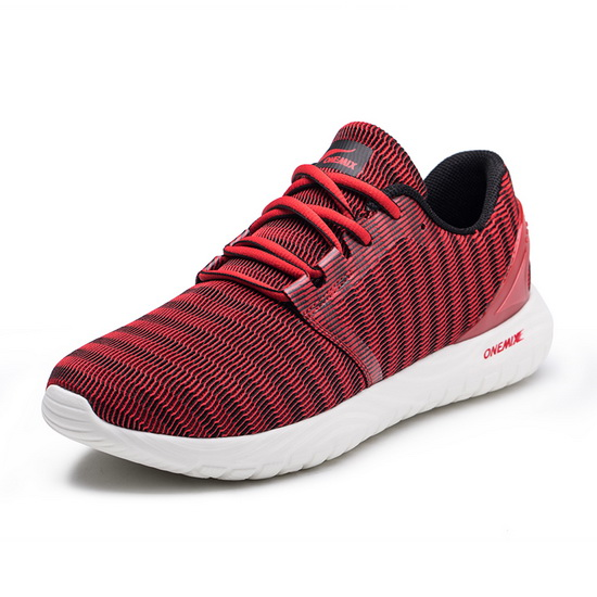 Red Zebra Sneakers ONEMIX Breathable Men's 250 Shoes
