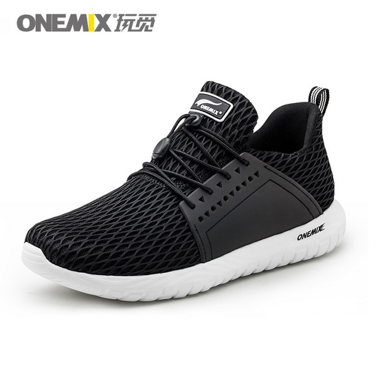 Black Spring Women's Shoes ONEMIX Men's Tennis Sneakers