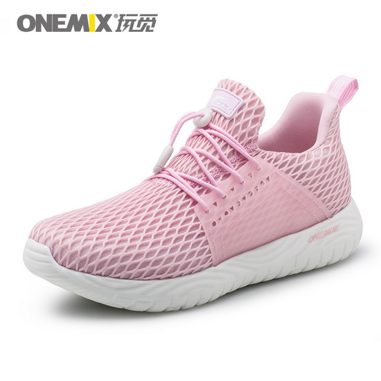 Pink Spring Sneakers ONEMIX Light Women's Sport Shoes