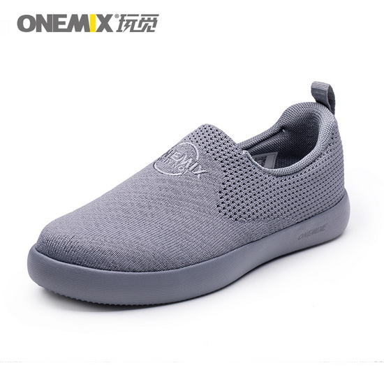 Gray Hummingbird Men's Sneakers ONEMIX Unisex Women's Shoes