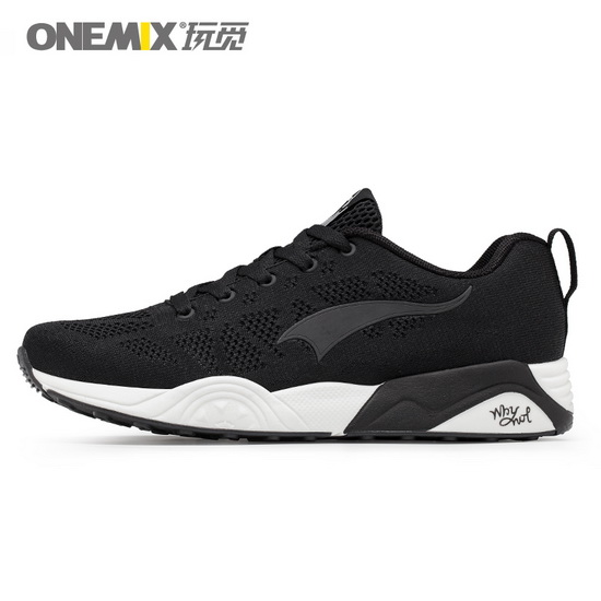 Black Athlon Shoes ONEMIX Men's Breathable Sneakers