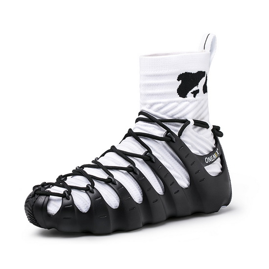 Black/White High Top Men's Shoes ONEMIX Rome Women's Sneakers