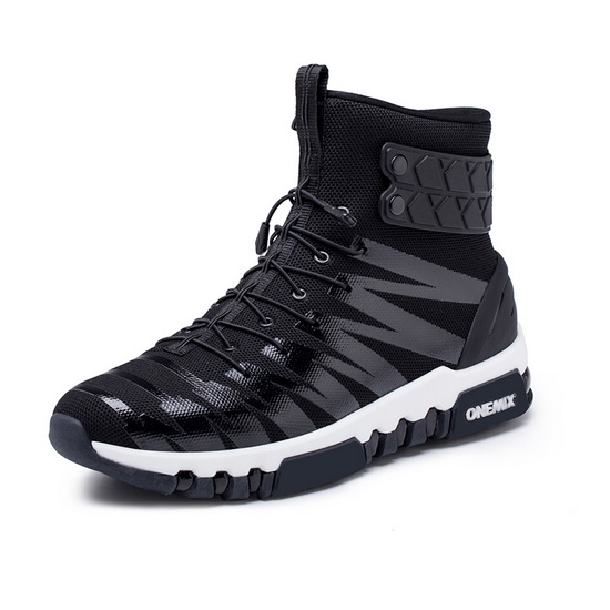 Black/White High Top Women's Shoes ONEMIX October Men's Sneakers