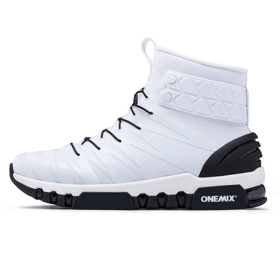 White/Black High Top Women's Sneakers ONEMIX October Men's Shoes