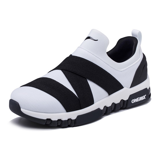 White/Black KeyBand Women's Sneakers ONEMIX Men's Running Shoes