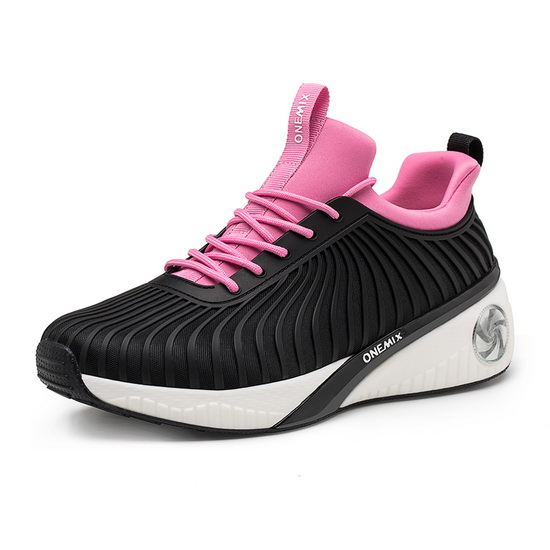 Black/Pink Typhoon Women's Sneakers ONEMIX Breathable Shoes