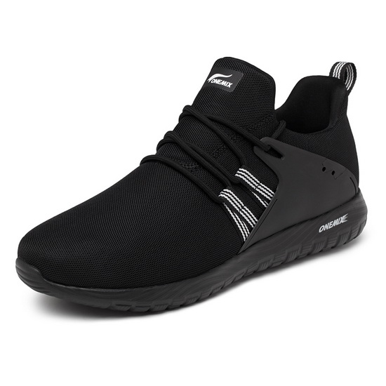 Black Volans Women's Shoes ONEMIX Men's Breathable Sneakers - Click Image to Close