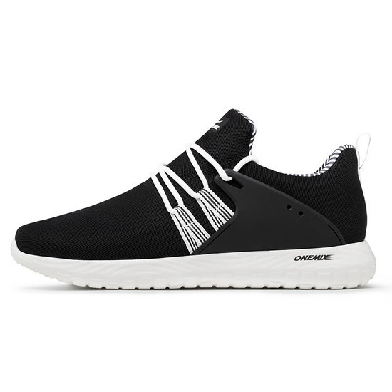 Black/White Volans Men's Sneakers ONEMIX Women's Mesh Shoes