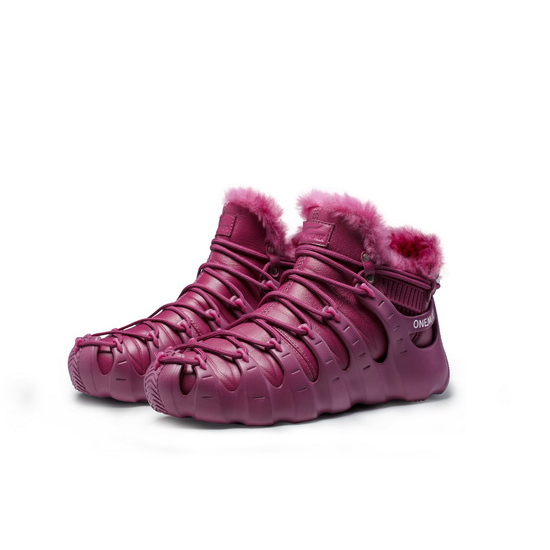 DarkMagenta December Women's Shoes ONEMIX Rome Men's Boots