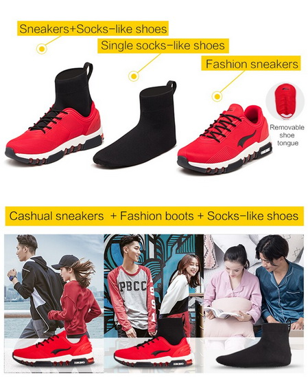 Red/White Pegasus Men's Sneakers ONEMIX Outdoor Multi-function Shoes
