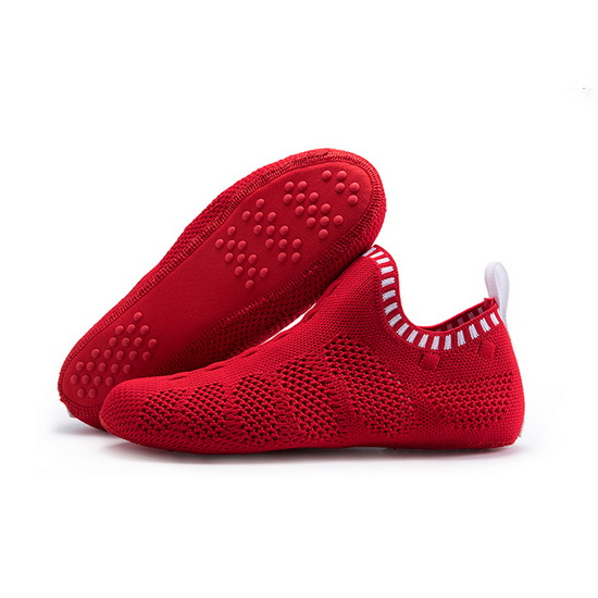 Red/White Mesh ONEMIX Breathable Quick-Dry Slipper Socks