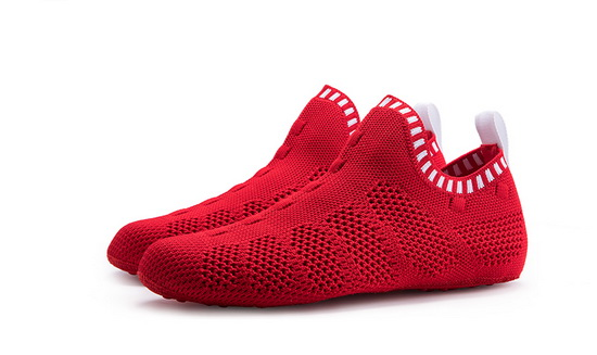 Red/White Mesh ONEMIX Breathable Quick-Dry Slipper Socks - Click Image to Close