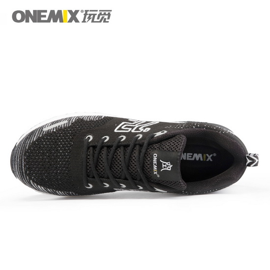 Black/White Goku Shoes ONEMIX Men's Athletic Sneakers
