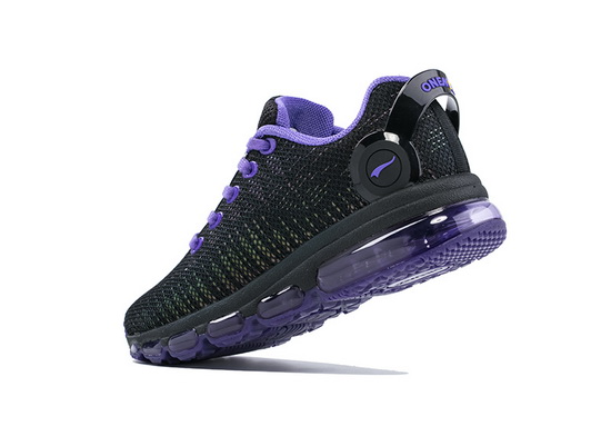 Black/Violet Music III Sneakers ONEMIX Women's Sport Shoes - Click Image to Close