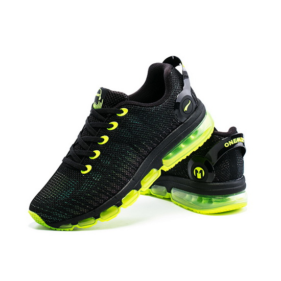 Black/Yellow Music III Shoes ONEMIX Men's Running Sneakers