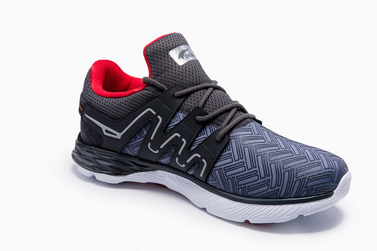 Gray/Red Panther II Sneakers ONEMIX Men's Running Shoes