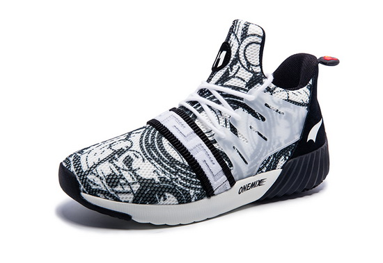 White/Black Graphic Shoes ONEMIX Women's Athletic Sneakers