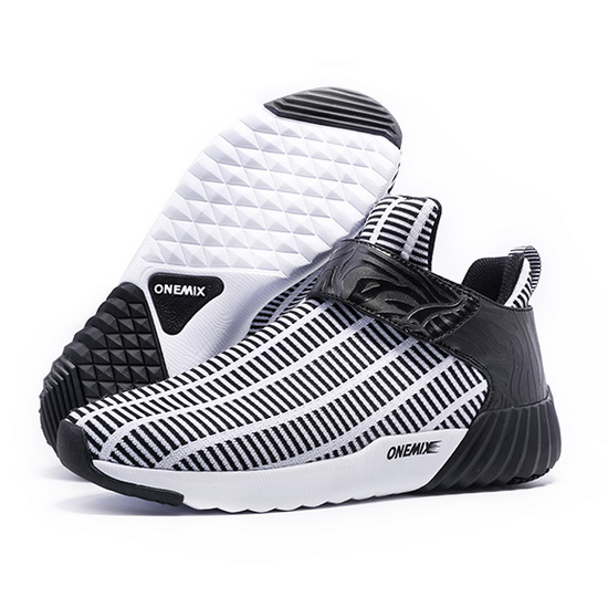 White/Black Walking Sneakers ONEMIX Zebra Men's Shoes
