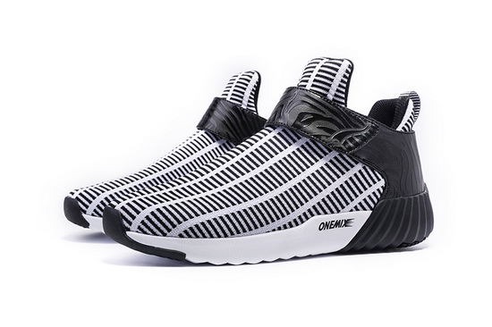 White/Black Walking Sneakers ONEMIX Zebra Men's Shoes - Click Image to Close