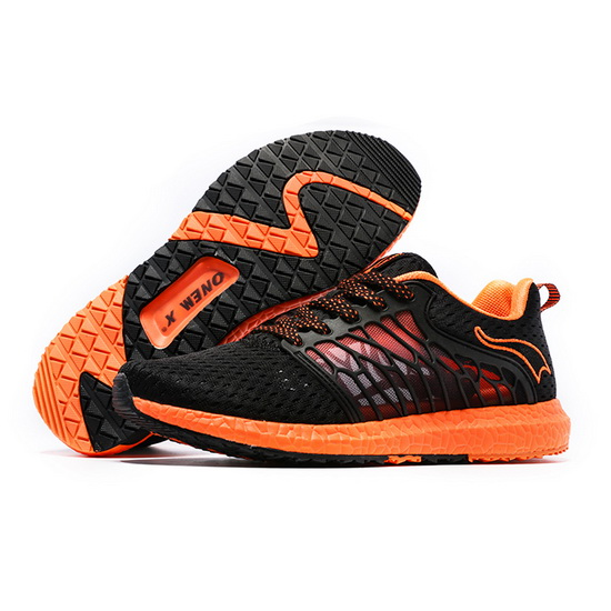 Black/Orange Cicada Wings Shoes ONEMIX Men's Athletic Sneakers