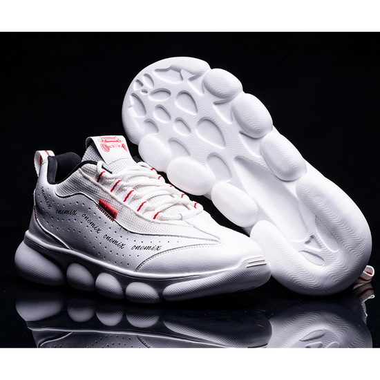White/Red Hellion Travelling Sneakers ONEMIX Men's Dad Shoes