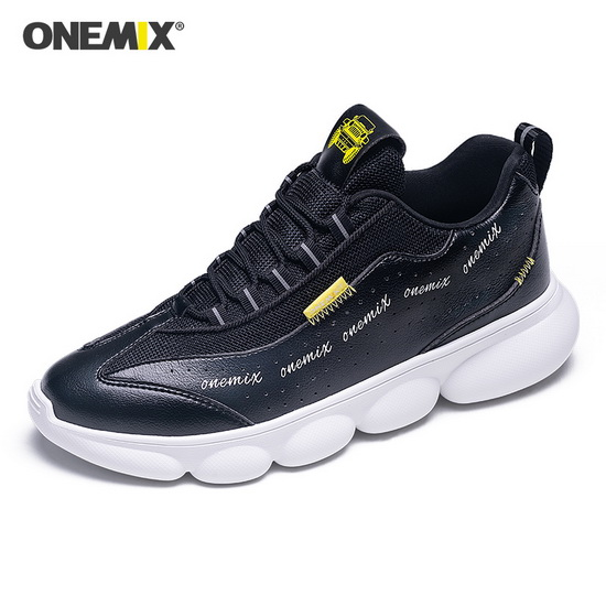 Black/Yellow Hellion Lightweight Shoes ONEMIX Men's Dad Sneakers
