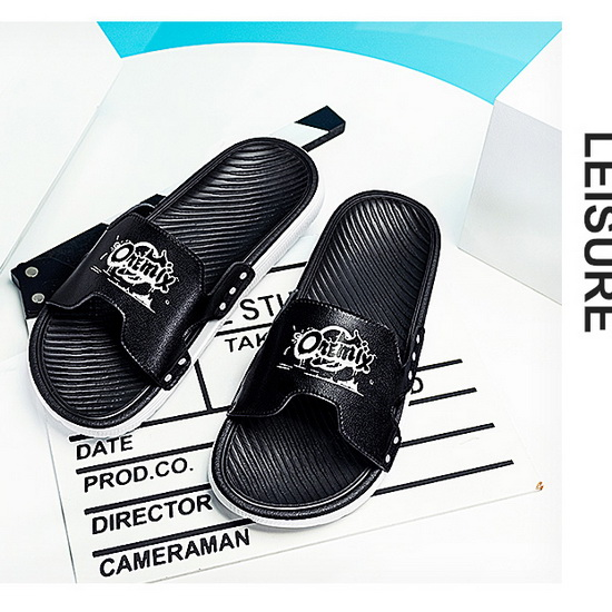 Black/White Outdoor Summer Shoes ONEMIX Beach Men's Sandals - Click Image to Close