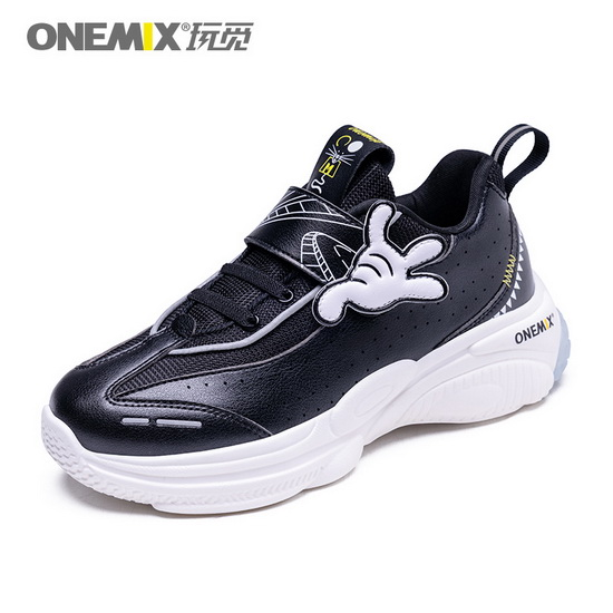 Black Zodiac Mouse Sneakers ONEMIX High-tech Kids Shoes