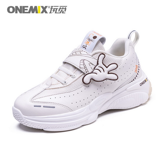 White Zodiac Mouse Shoes ONEMIX Running Kids Sneakers