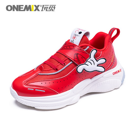 Red Zodiac Mouse Sneakers ONEMIX Sport Lucky Kids Shoes