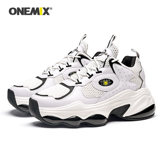 White/Black Spider Men's Shoes ONEMIX Lifestyle Women's Sneakers