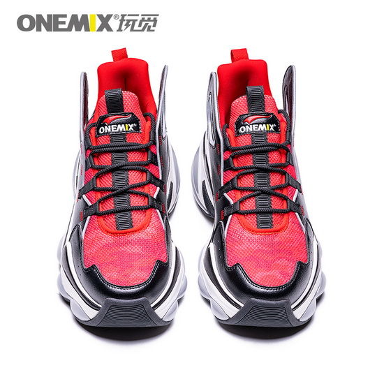 Red/Black/White Dumbo Shoes ONEMIX Lucky Men's Sneakers