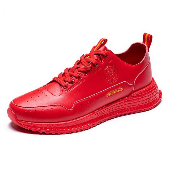 Red Wonder Shoes ONEMIX Lifestyle Men's Leather Sneakers