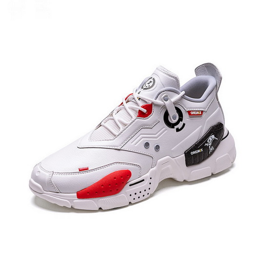 White/Red Astros Women's Shoes ONEMIX Lightweight Men's Sneakers