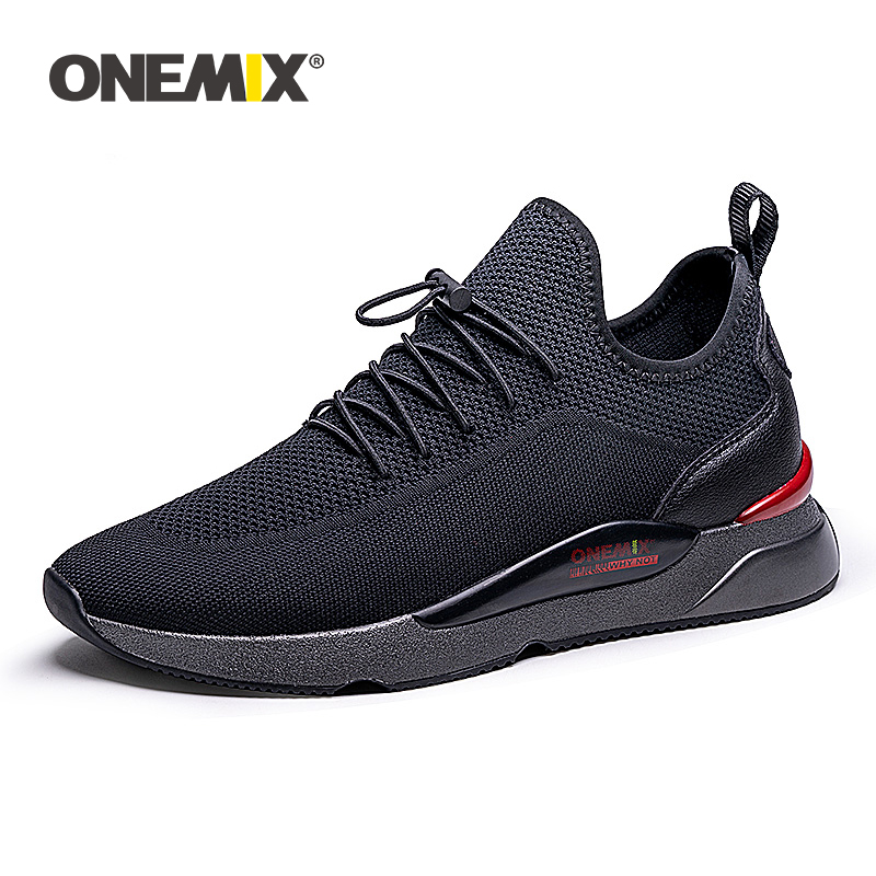 Black Dragonfly Sneakers ONEMIX Men's Breathable Shoes