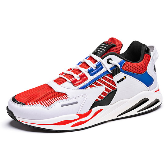 White/Red Wild Sneakers ONEMIX Lightweight Men's Dad Shoes