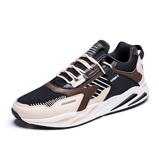 Beige/Brown Wild Men's Shoes ONEMIX Mesh Women's Dad Sneakers